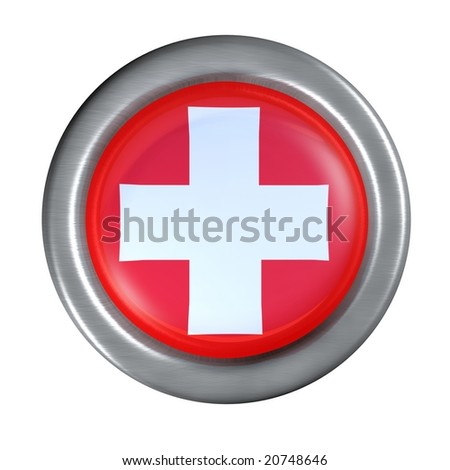 switzerland flag button