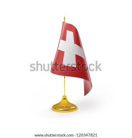 Switzerland Flag Detail Render - stock photo