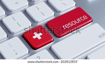 Switzerland High Resolution Resource Concept - stock photo
