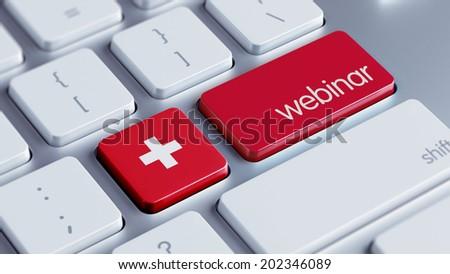 Switzerland High Resolution Webinar Concept - stock photo