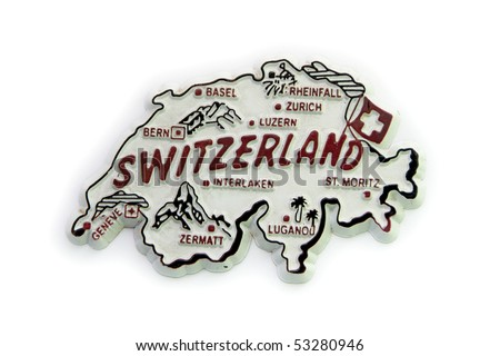 Switzerland map for different uses - stock photo