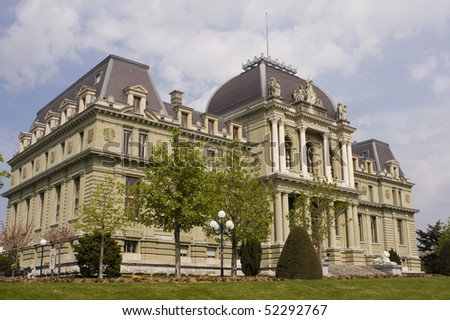 Switzerland - View of the courthouse in Lausanne