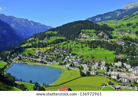 Switzerland village - stock photo