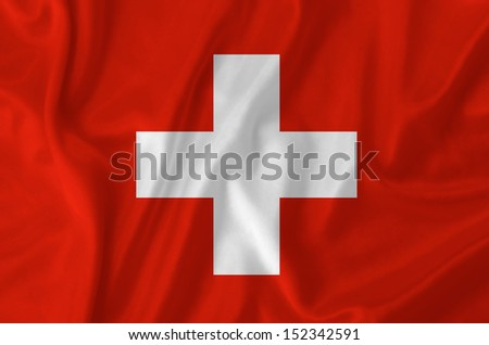 Switzerland waving flag - stock photo