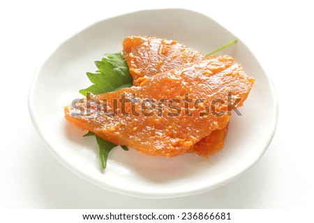 Sword fish fillet marinated in Miso - stock photo