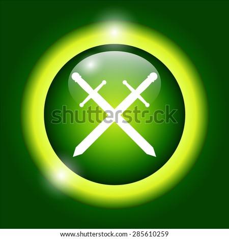 sword icon beautiful, isolated  - stock photo