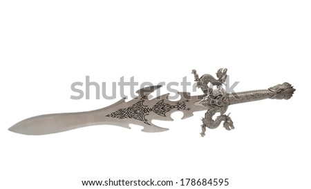 sword isolated on white background