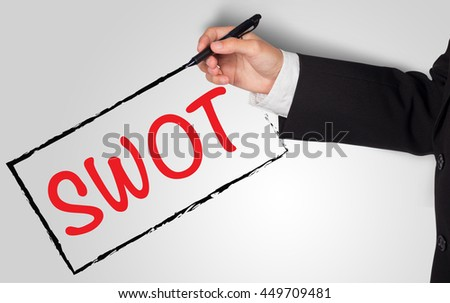 SWOT analysis business strategy management, - stock photo