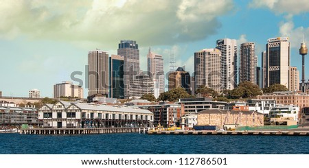 SYDNEY - AUGUST 13: Sydney Harbour Buildings view on August 13, 2010 in Sydney, Australia. The harbour is an inlet of the South Pacific Ocean and it is considered to be one of the world's finest harbours