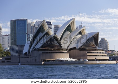 SYDNEY, AUSTRALIA - April 02, 2016: Sydney skyline, Horbour bridge and the Sydney Opera House.