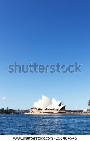 Sydney,Australia-August 15,2014: Sydney opera house and sea during daytime. - stock photo
