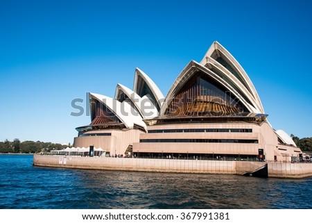 Sydney, Australia - AUGUST 13, 2015: The Sydney Opera House on a Sunny Day  - stock photo