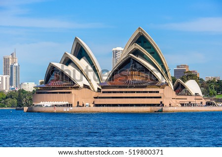 SYDNEY, AUSTRALIA - AUGUST 28, 2012: View of the Opera House from Kirribilli in Sydney, Australia