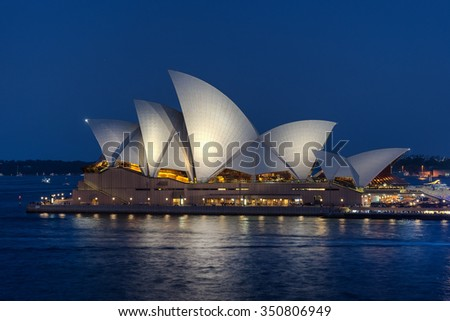 Sydney,Australia - DEC 10th 15:The Sydney Opera House was made a UNESCO World Heritage Site in June 2007 and is Australia most famous landmark. - stock photo