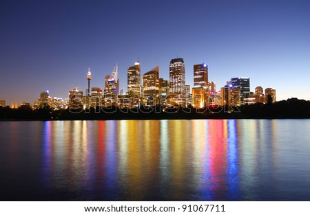 Sydney, Australia in the evening - stock photo