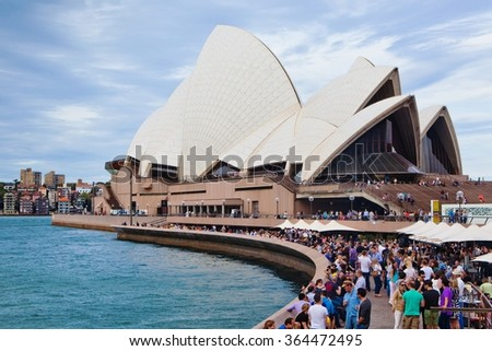 Sydney, Australia - January 14: Sydney Opera House at night on January 14, 2013 in Sydney, Australia. The Sydney Opera House is one of the most famous performing arts centers in the world.