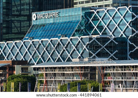 Sydney, Australia -  Mar 26, 2016: Office building of Macquarie Group which is a global investment banking and diversified financial services group and the largest Australian investment bank