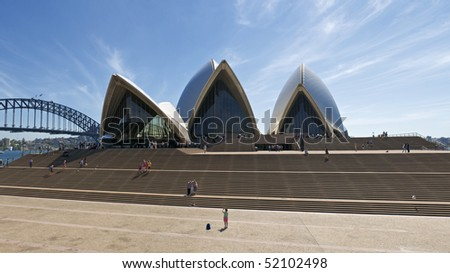 SYDNEY, AUSTRALIA - MARCH 19:  Panoramic of the Sydney Opera House Prior to a Performance on March 19, 2010 in Sydney, Australia