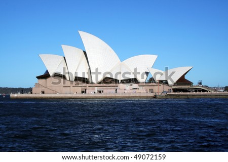SYDNEY, AUSTRALIA - NOVEMBER 18: Side view of Sydney Opera House. on November 18, 2005 in Sydney, Australia. - stock photo