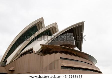 SYDNEY, AUSTRALIA - November 1, 2010: The Sydney Opera House is a multi-venue arts center designed by Danish architect Jorn Utzon - stock photo