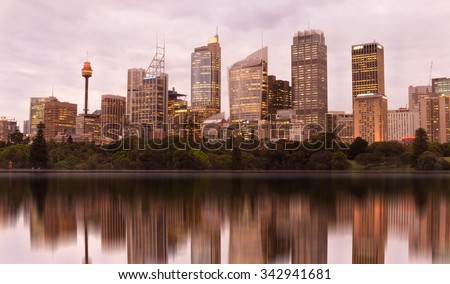 Sydney Australia,23 October : View of CBD from Botanic gardens on October 23, 2015 in Sydney Australia.