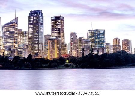 Sydney, Australia. Panoramic city skyline. - stock photo