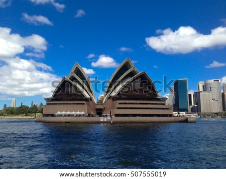 Sydney, Australia - September 1st, 2016: View of the Sydney Opera.