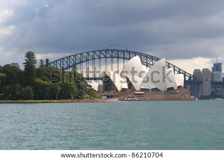 SYDNEY, AUSTRALIA - SEPTEMBER 1:Sydney Opera House - view from Botanical Gardens , on September 1, 2011 in Sydney. The Opera House will celebrate its 40th anniversary in 2013.