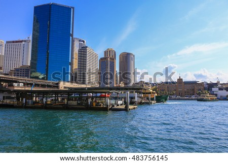 SYDNEY, AUSTRALIA : 9 SEPTEMBER 2016 - View part of Sydney darling harbour, Sydney, New South Wales