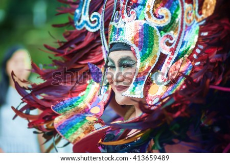 SYDNEY, AUSTRALIA - 5th of March 2016 Mardi Gras.  Mardi Gras is an annual event for gay/lesbian acceptance. - stock photo