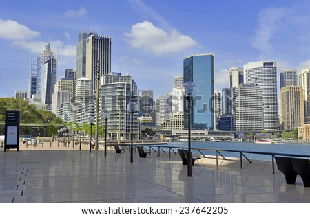 SYDNEY - CIRCA NOVEMBER 2014. Ordinarily considered a safe, tourist-friendly city, Sydney Australia was the site of a hostage situation potentially involving ISIS on December 15, 2014. - stock photo