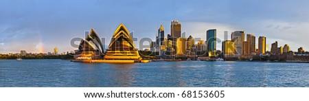 Sydney circular quay extra large panorama - stock photo