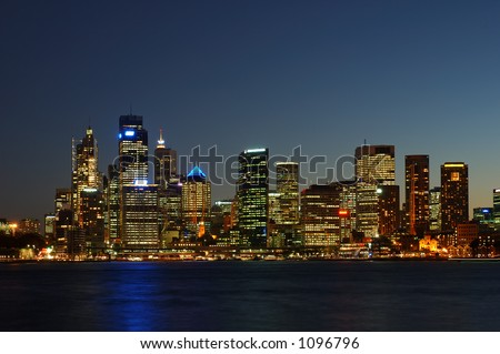 Sydney City After Dark - stock photo