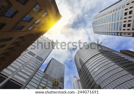 Sydney city buildings - stock photo