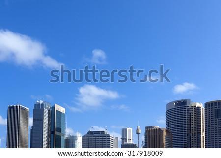 Sydney city buildings - stock photo