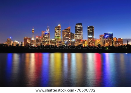 Sydney city in twilight - stock photo