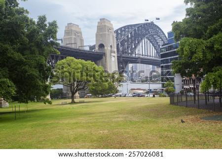 Sydney city park - stock photo