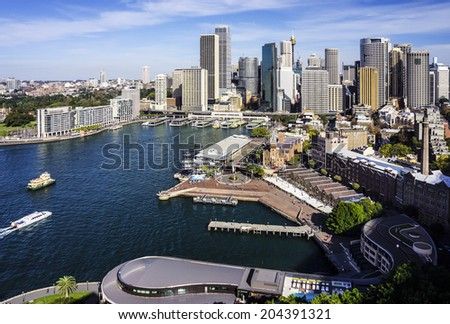 Sydney City View - stock photo