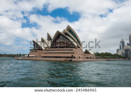 SYDNEY - December 26: The Iconic Sydney Opera House is a multi-venue performing arts centre also containing bars and outdoor restaurants. December 26, 2014 in Sydney, Australia.