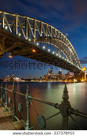 SYDNEY - FEB 16 : The Sydney Opera House is a multi-venue performing arts centre close to the Sydney Harbour Bridge and the Sydney central business district. FEB 16, 2015 in Sydney, Australia. - stock photo