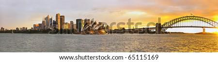 Sydney harbor large panorama - stock photo