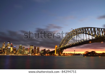Sydney Harbour Bridge and CIty view