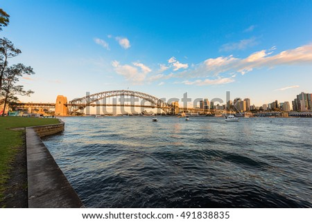 Sydney Harbour Bridge and Sydney Opera House NSW Australia. Oct 02,2016 the Sydney Opera House is one of the modern building, well known worldwide.
