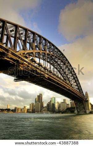 Sydney Harbour Bridge, Australia; - stock photo