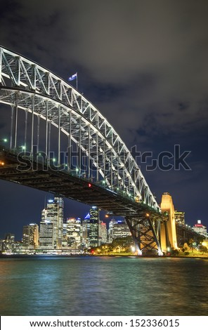 sydney harbour bridge in australia - stock photo