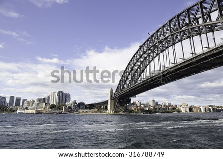 Sydney Harbour Bridge in sunshine day