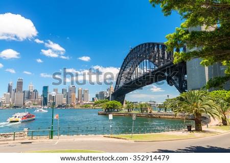 Sydney Harbour Bridge, New South Wales, Australia. - stock photo