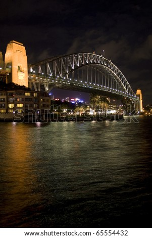 Sydney Harbour Bridge Night Portrait - stock photo