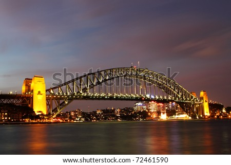 Sydney Harbour bridge taken from opera house - stock photo