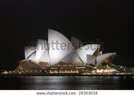 SYDNEY HARBOUR - JAN 19 : Sydney Opera House in Sydney, Australia on January 19, 2009. 40 years after designer Joern Utzon was forced off the site, he has been honored at a memorial service.